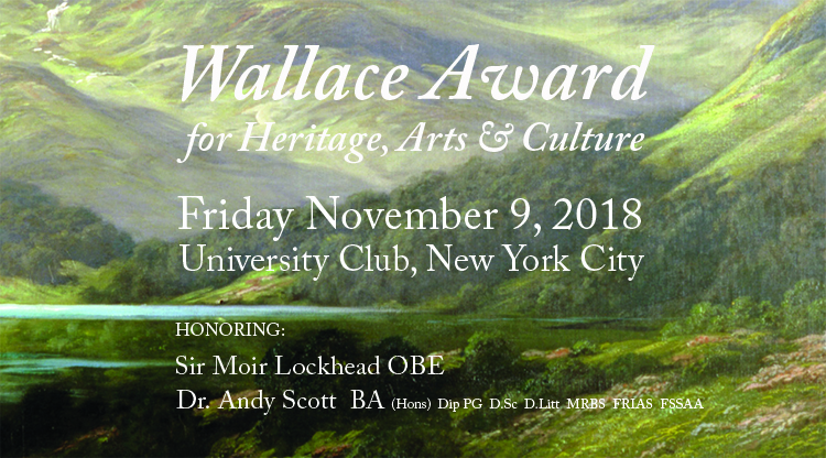 Wallace Award for Hewritage, Arts and Culture Friday November 9, 2018 banner