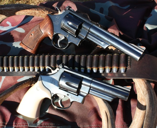 With a belt full of cartridges, one can do a bit of shooting with a pair of double-action magnums.