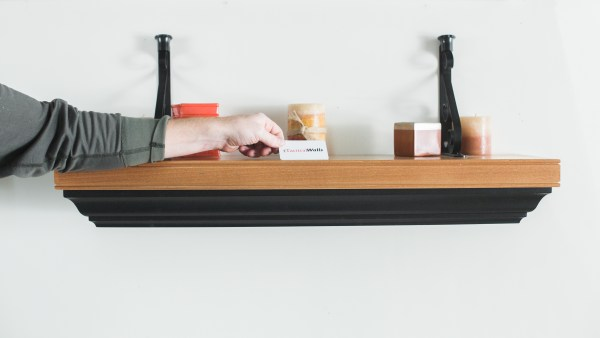 Tactical Walls shelves are designed for use with standard 2x4 stud framing, and hang like any regular wall shelf.