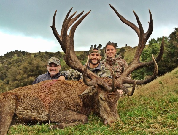 Mendes learned to hunt by following in his father Alvin's footsteps. Today, he hunts right beside him (left). On this trip, they were joined by Mendes' fiancee Abby Raines.