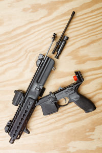 Takedown of the MPX is simple, with all bolt and carrier parts accessible with the removal of a single pin.