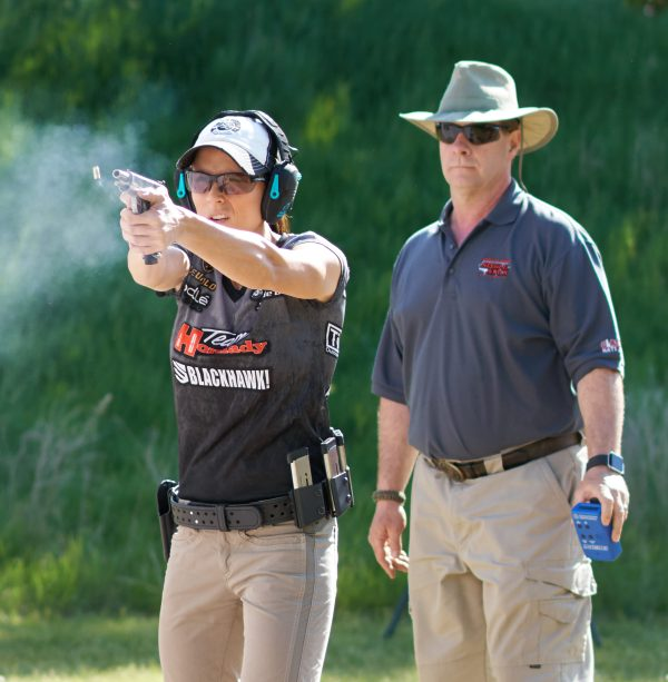 Duff in action at the recent USPSA Nationals.