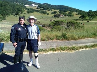 Novato Police Officer Terry Brown and Kirsch