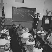Schoolchildren Learning about the Scrap Drive. Roanoke, VA, October, 1942. Photo by Howard Lieberman. Library of Congress collections.