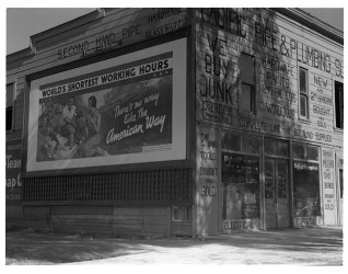 Billboard In California Sponsored by the National Association of Manufacturers. 1937. Photo by Dorothea Lange.