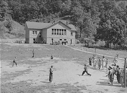 Recess at Big Rock School, Breahitt County, Kentucky. September, 1940. Photo by Marion Post Wolcott.