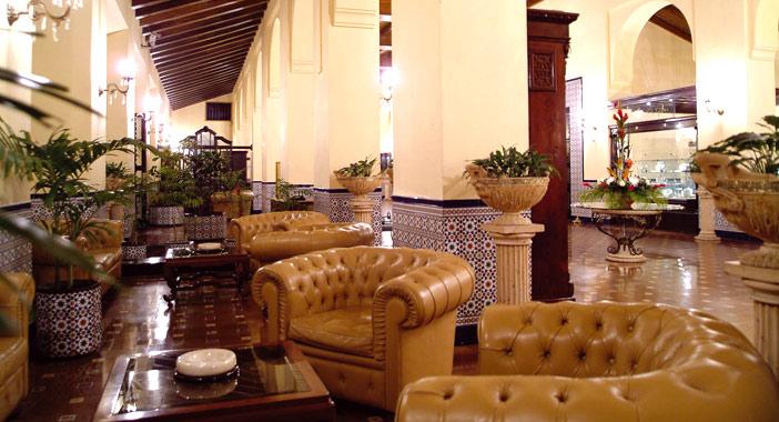 Cuba hotels, lobby of Hotel Nacional in Havana