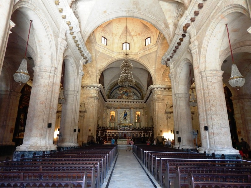 interior of Catedral de la Habana