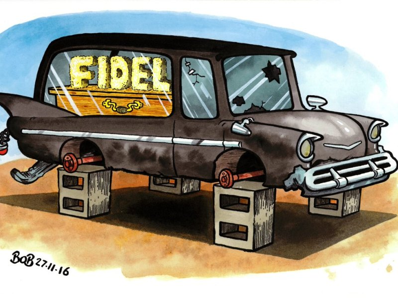 Castro Cartoons after Death