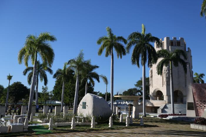 Fidel Castro funeral-granite block
