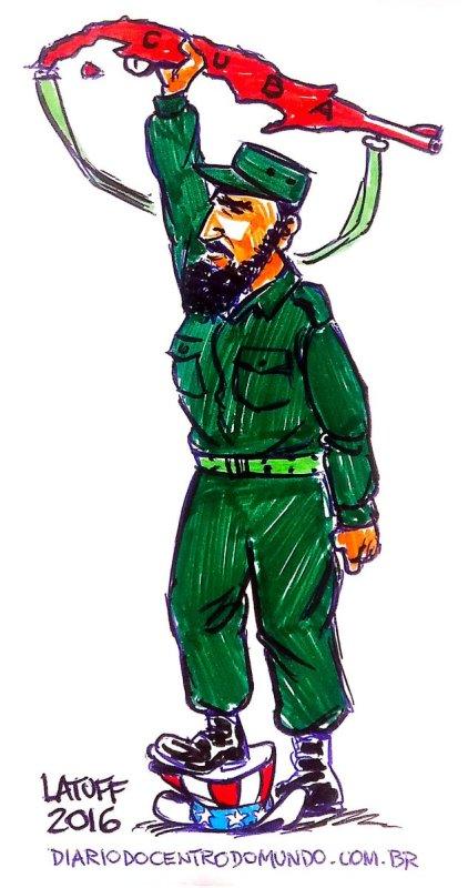 Mohamed Kaci Castro cartoons