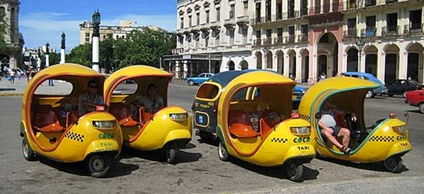 cocotaxi rides in Havana