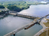 The Watts Bar dam on the Tennessee River, built from 1939 to 1942, provided urgently needed electricity for the World War II effort. (TVA.org)