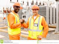 Electrical engineers at a construction site. They will be in high-demand when we launch a National Infrastructure Bank. (dreamstime)