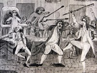 Depiction of Congressional violence in 1798.
