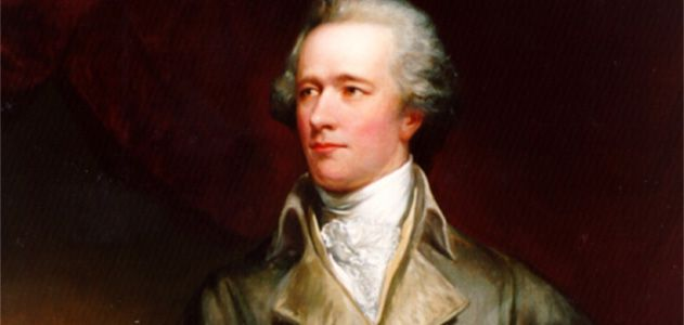 Alexander Hamilton, founder of the American System. Portrait, Painted by John Trumbull