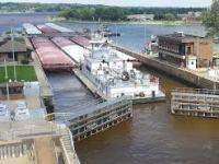Lock on the Mississippi River. (wikipedia)