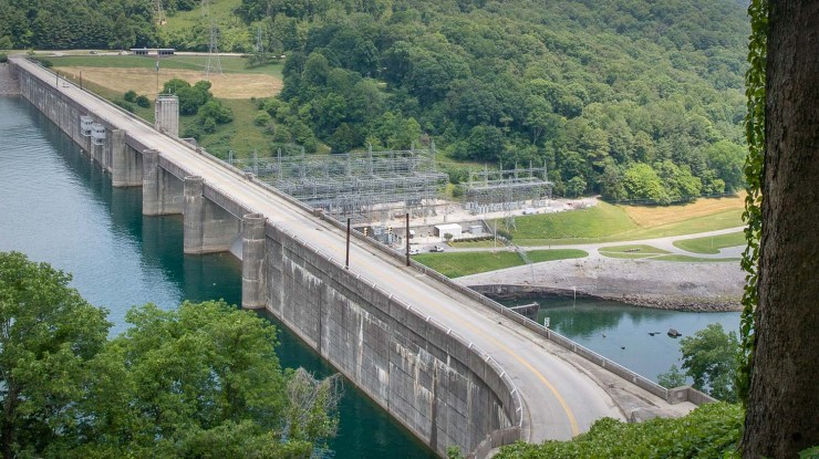 Norris Dam, the first to be completed by the TVA