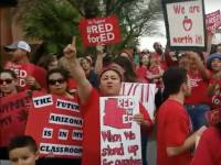Arizona teachers rally at state capitol. April 4.