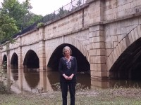 Blog editor Nancy Spannaus at the Monocacy Aqueduct.