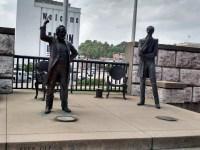 Statues of the Lincoln-Douglas debate in Alton, Illinois. (Nancy Spannaus)