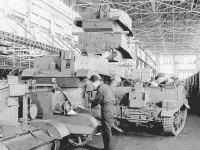 An auto plant converted for war production