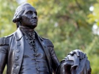 Statue of George Washington at George Washington University.