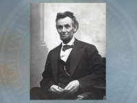 Lincoln photographed  by Alexander Gardner.