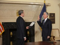 Fed Chairman Jerome Powell at his swearing-in (federalreserve.gov)