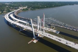 The new Tappan Zee Bridge across the Hudson River.