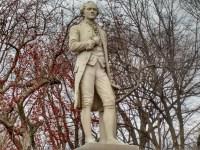 Hamilton statue in New York City's Central Park (Nancy Spannaus)