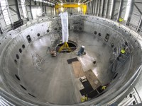 Base of the ITER Tokamak, delivered by India this month.