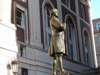 The Hamilton statue at Columbia University