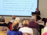 Speaking at Rust Library to a good crowd on Feb. 15.