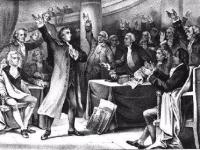 A depiction of the Stamp Act Congress