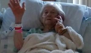An elderly coronavirus victim, who recovered.