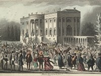 Depiction of Jackson inauguration (Wikipedia Commons)