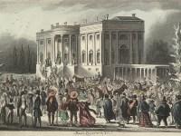 Depiction of Jackson inauguration (Wikipedia Commons)