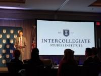 ISI President John Burtka IV opens the conference on political economy. (Nancy Spannaus)