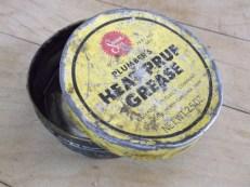 heat-pruf grease old tin opened jim sergovic