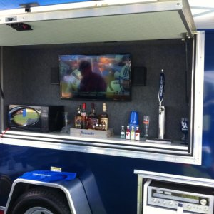 5x8 Deluxe Tailgating Trailer - C58TG02
