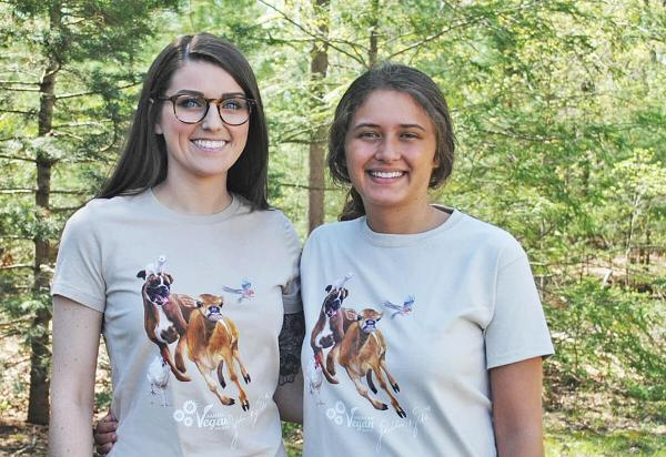 American Vegan Socitey Vegan Animal Freedom Shirt Cassie and Nicole