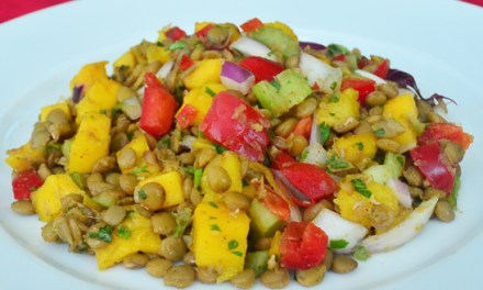 Asian Lentil and Mango Salad Recipe