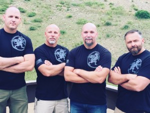 Mike Seeklander, Rich Brown (Author) and some of the AWS Crew at Martial Blade Camp 2016 [Photo Credit: Author}