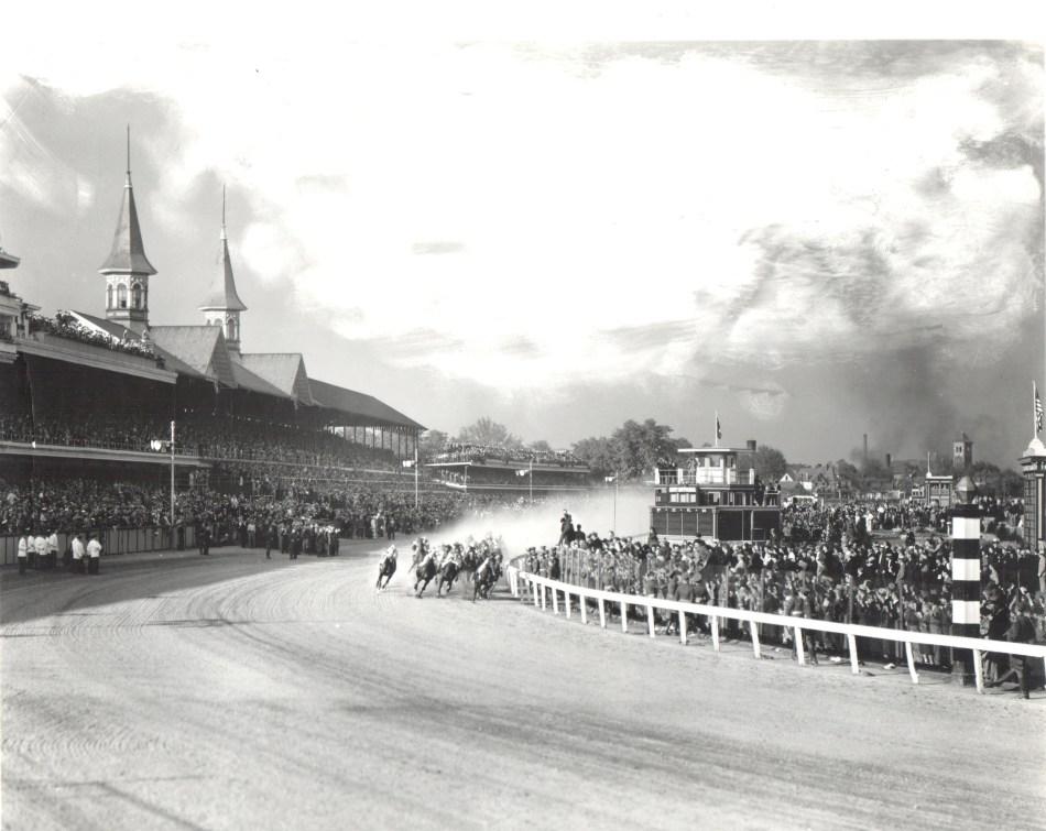 1937 Derby First Turn