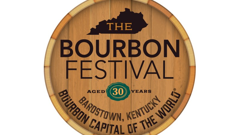 Bourbon Barrel top with KBF logo printed on top