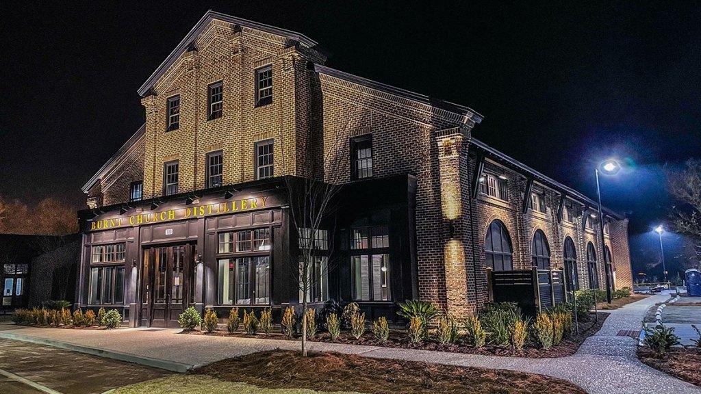 Burnt Church Distillery building