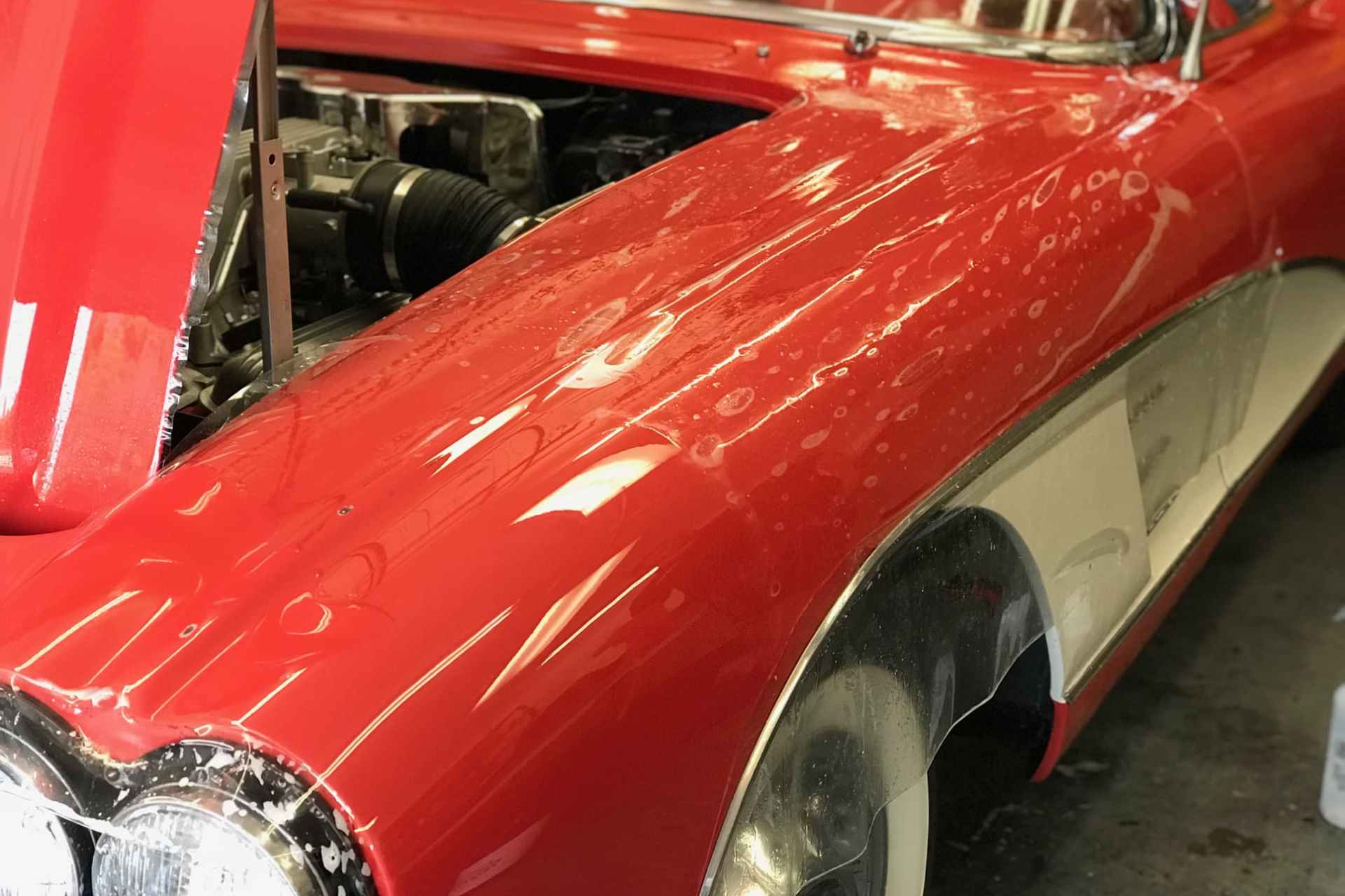 Classic Red Chevrolet PPF Installation