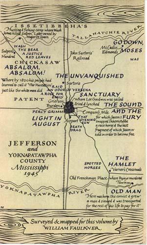 William Faulkner map