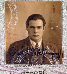Ernest Hemingway passport photo